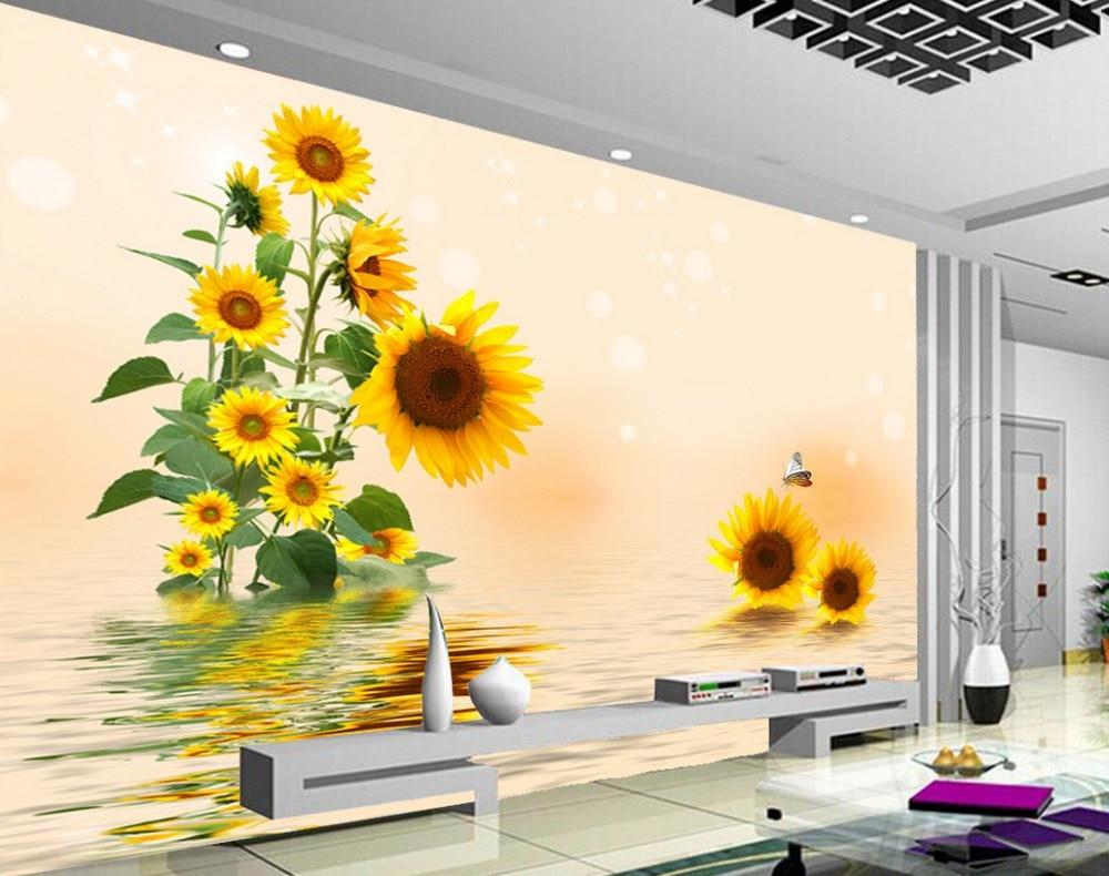 Home wallpaper wall fashion wallpaper home for Sala girasol