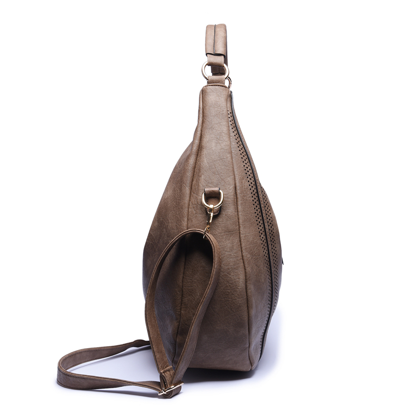 Image 5 - SGARR Fashion Womnen PU Leather Handbags High Quality Large Capacity Ladies Shoulder Bag Casual Vintage Female Hobos Tote Bags-in Shoulder Bags from Luggage & Bags