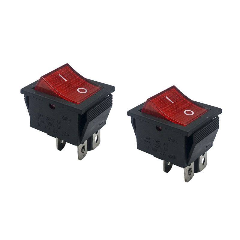 50 pcs Red LED 31*25mm DPST 4PIN Snap-in ON/OFF Position Snap Boat Rocker Switch 16A/250V High Quality Copper feet50 pcs Red LED 31*25mm DPST 4PIN Snap-in ON/OFF Position Snap Boat Rocker Switch 16A/250V High Quality Copper feet
