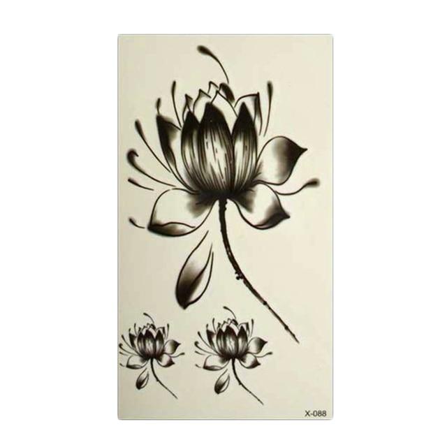 Waterproof Temporary Tattoos Lotus Flower Stickers Lotus Flower