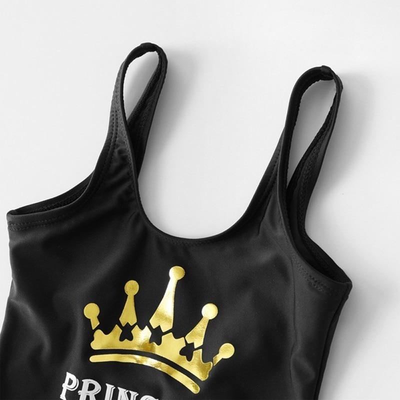 2019 Family Matching Swimwear One Piece Mother Daughter Women Kid Son Girl Queen Swimsuit Bathing Suit Maillot De Bain Feminino-2