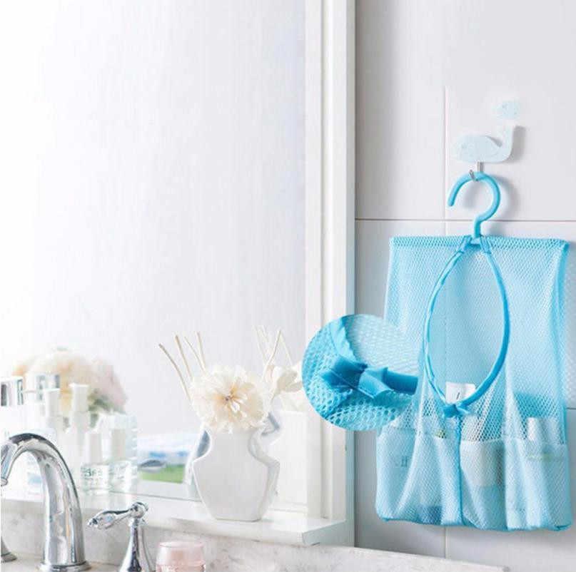 Do przechowywania w łazience Clothespin Mesh torba haki torba do zawieszenia organizator prysznic kąpieli kąpiel nowy akcesoria do dekoracji domu akcesoria kuchenne