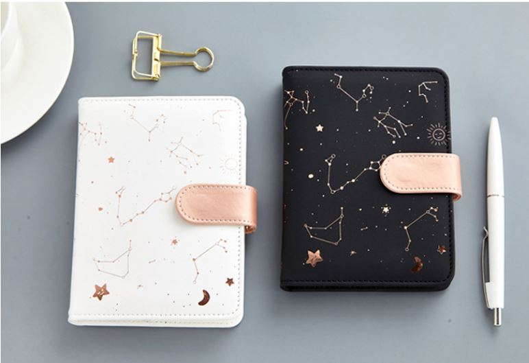 A6 Leather Cover Constellation Notebook 10.5*14cm