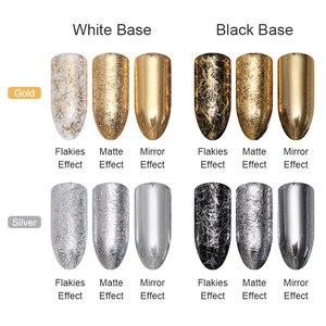 Image 3 - NASCIDO BONITA Prego De Prata Ouro Tira Espelho Flakies 3D Decoração de Unhas de Metal Fio de Linha Gel UV Da Arte Do Prego Acessórios de Decoração