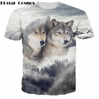Men Women Classic Vintage Prints Tshirts Cool Wolves 3D T Shirt Tee Harajuku Tees Tops Fashion