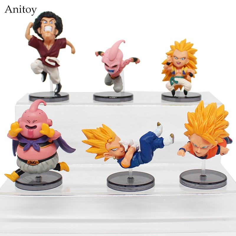 6 Pcs//Set Dragon Ball Super Beerus Goku Vegeta Frieza Figure Collectible Toy