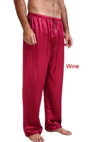 7a98c5f2ba71 ... 2018 New Fashion Hot Popular Men s Silk Satin Pajamas Pyjamas Pants  Sleep Bottoms Nightwear Trousers ...