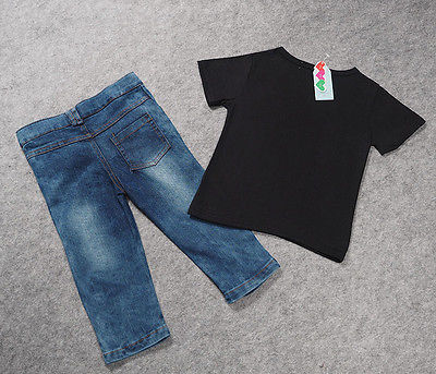 Newborn-Toddler-Infant-ClothingCool-Baby-Boy-Clothes-outfitsBaby-kids-T-shirt-Top-Tee-Ripped-Jeans-Denim-Pants-Outfits-Set-4