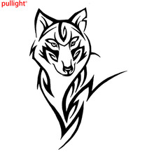 цена на Silhouette Of The Wolf Crazy Animal Pattern Car Sticker Tribal Vinyl Car Body Decals