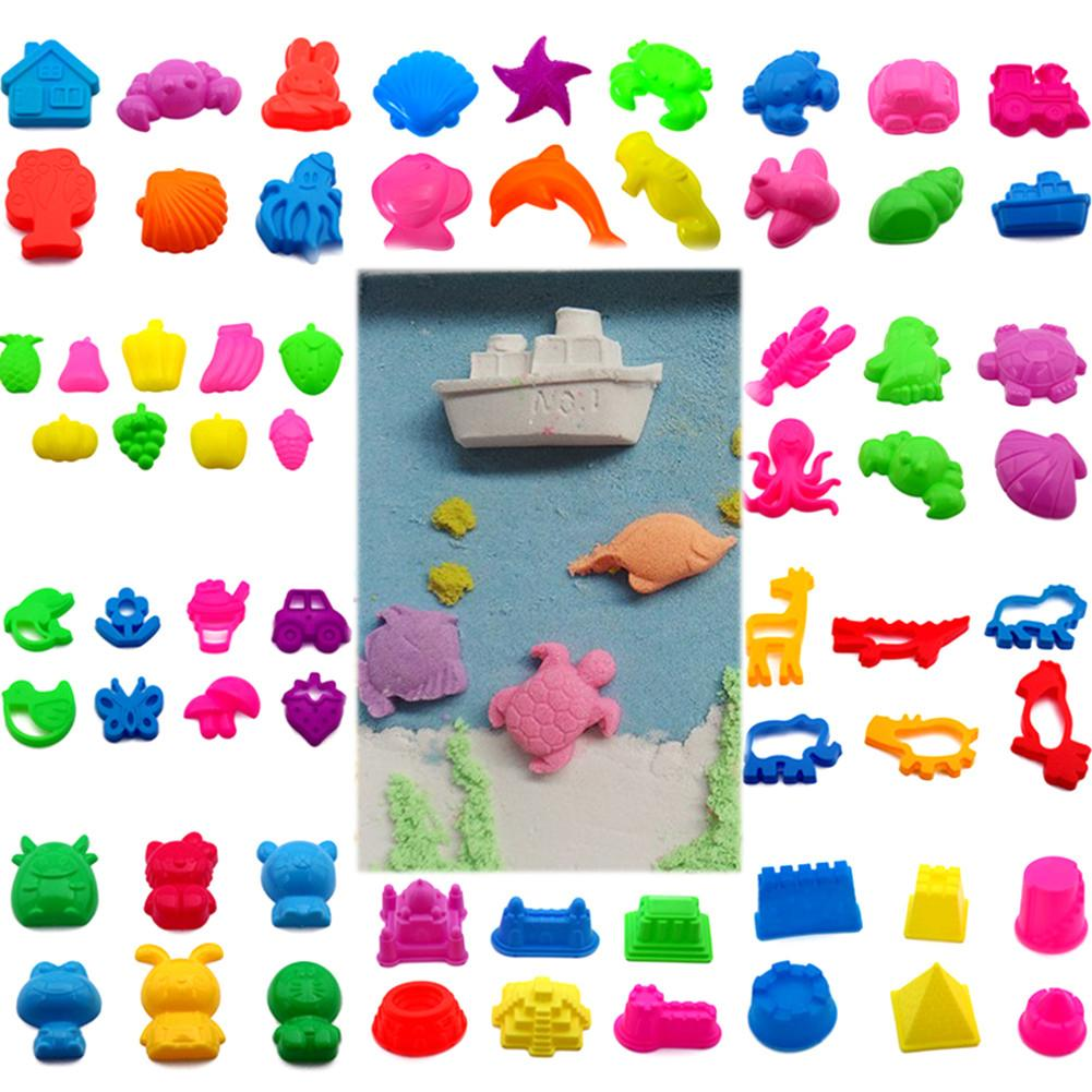 Children Space Sand Mold Tool Colorful Sand Toy With Tools For Dynamic Education Castle Architecture Set(China)