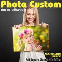 Photo Custom Diamond Painting Cross Stitch Full Square Rhinestone  Mosaic Private custom Embroidery Gifts