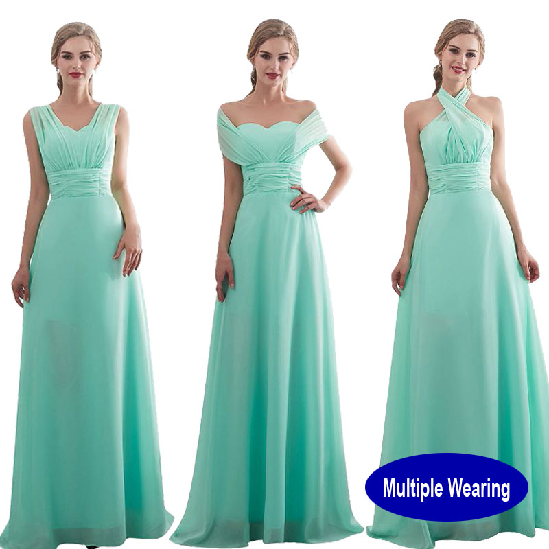 Customize Size Color Bridesmaid Dress Long 2019 New Design Bridal Shower Chiffon Wedding Party Wearing Formal Junior Prom Dress