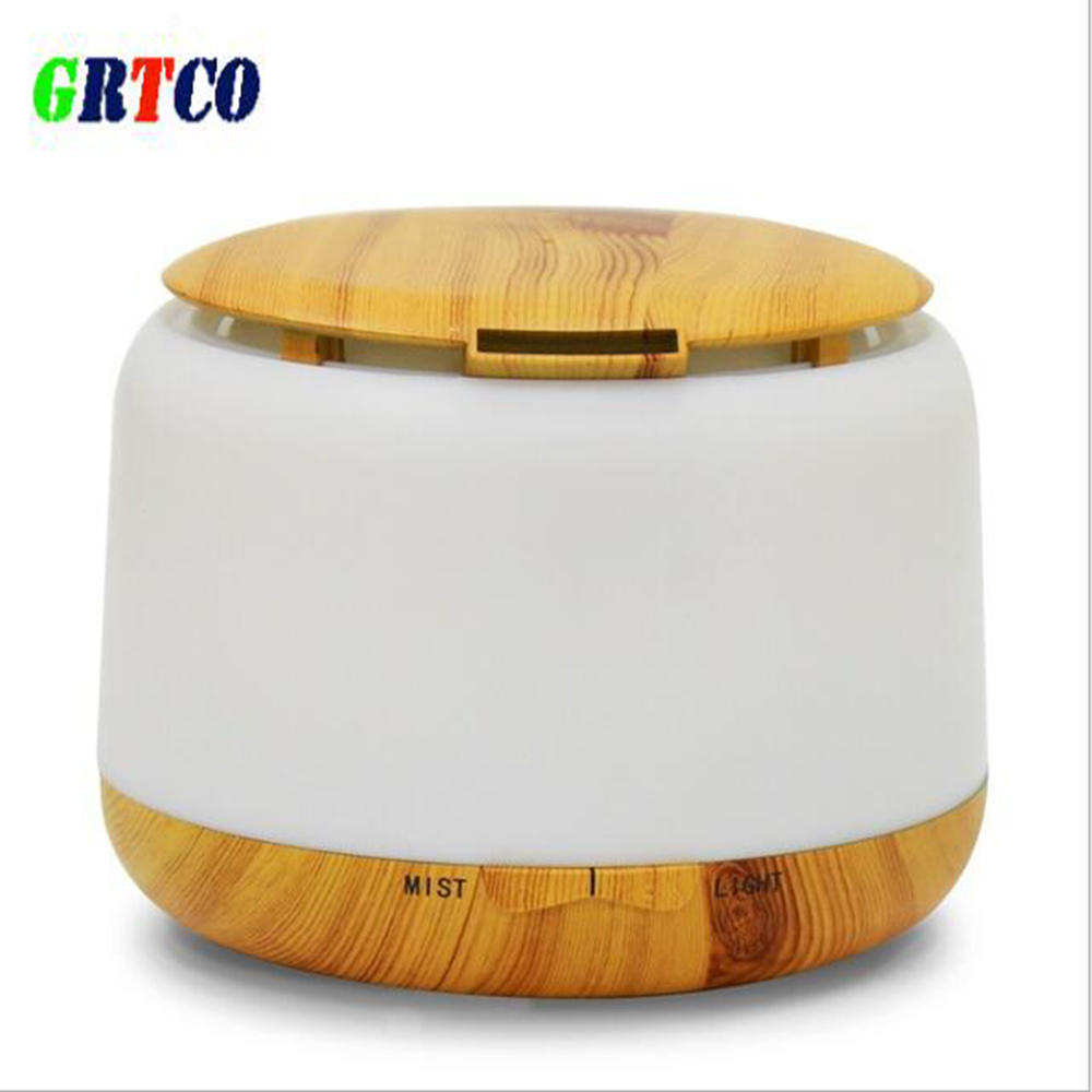 цены на GRTCO 300ml Ultrasonic Air Humidifier Aroma Essential Oil Diffuser 7Color Wood Grain Cool Mist Humidifier Aromatherapy Diffuser