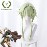 Japan Comic Goblin Slayer High Elf Archer cosplay wig role play High Elf Archer green hair wig costumes with free hair cap