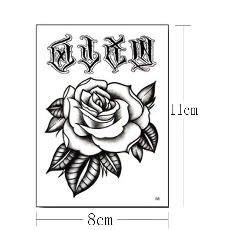 10 Buah Pack Sementara Tato Stiker Set Tangan Tato Mawar Hitam Bunga Mehndi Stiker Untuk Tangan Zombie Tato Untuk Pria Grosir Sementara Tato Aliexpress