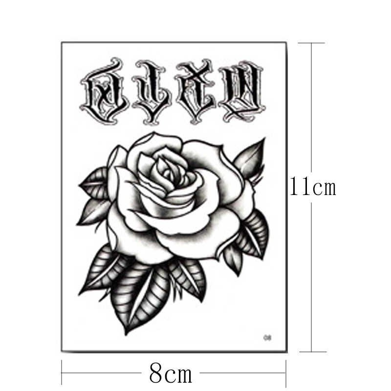 Tattoo Hourglass Temporary Tattoo Sticker Roses Flower Small Tatoo