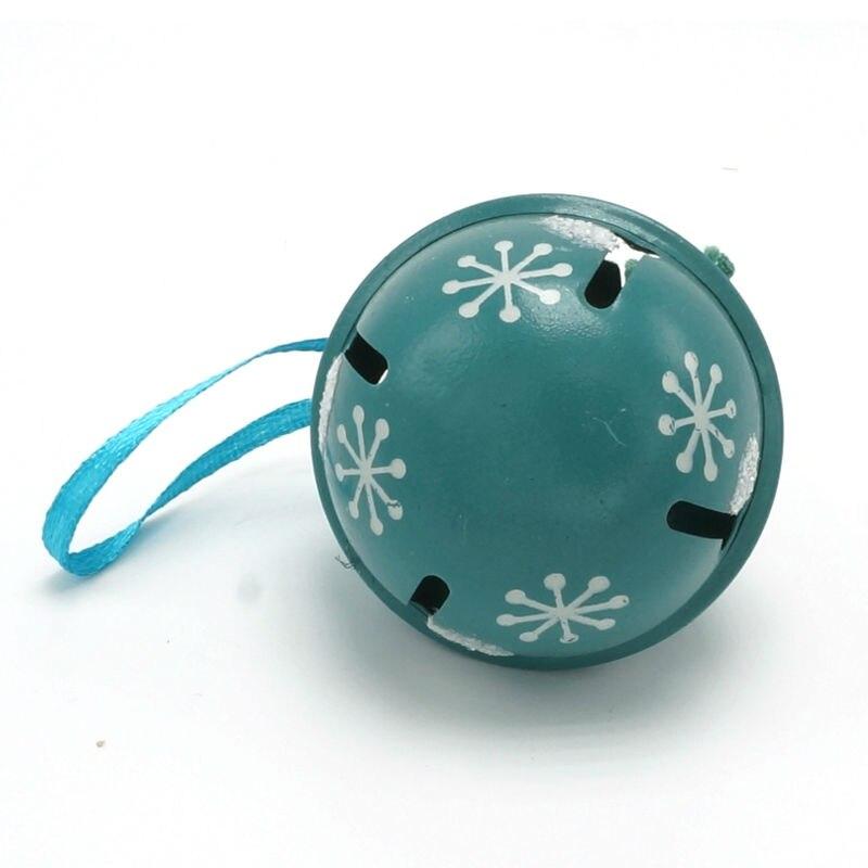 Decoración navideña 6 pcs metal azul brillante Jingle Bells 50 mm - Para fiestas y celebraciones - foto 5