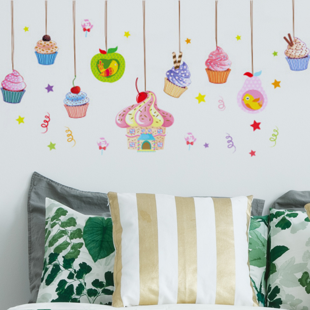 birthday party decorations 60x90cm Delicious cake ice cream Candy ...