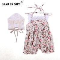 Для маленьких девочек летняя одежда для новорожденных для маленьких девочек S комбинезон Детские комбинезоны одежда комбинезон без рукаво...