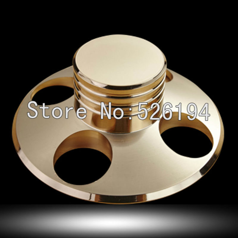 Free shipping One pieces LP Record Disc Turntable Clamp Stabilizer Brass HI-End Grade