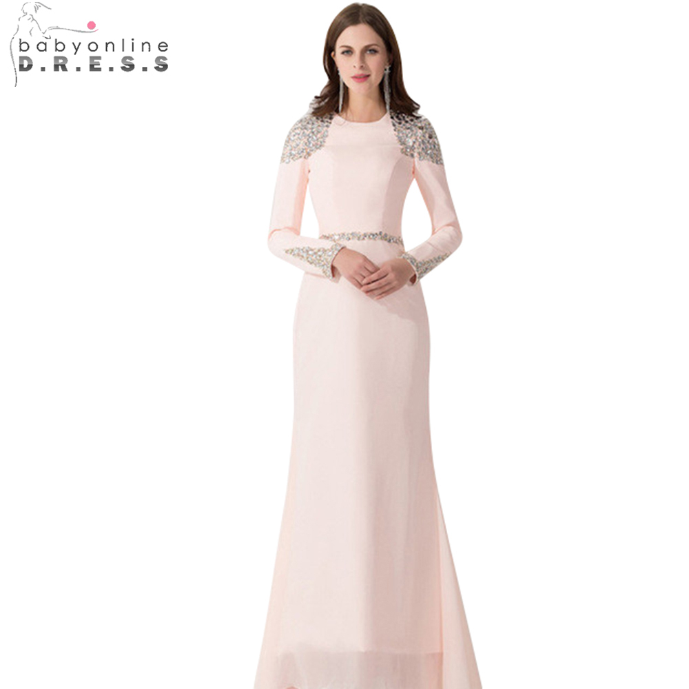 Rosa Abendkleid 2015 Fleck Gekleidet Longos Scoop Vestido Formatura ...