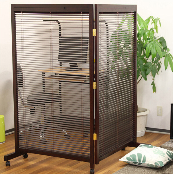 Online Shop Japanese Movable Wood Partition Wall 2 Panel Folding