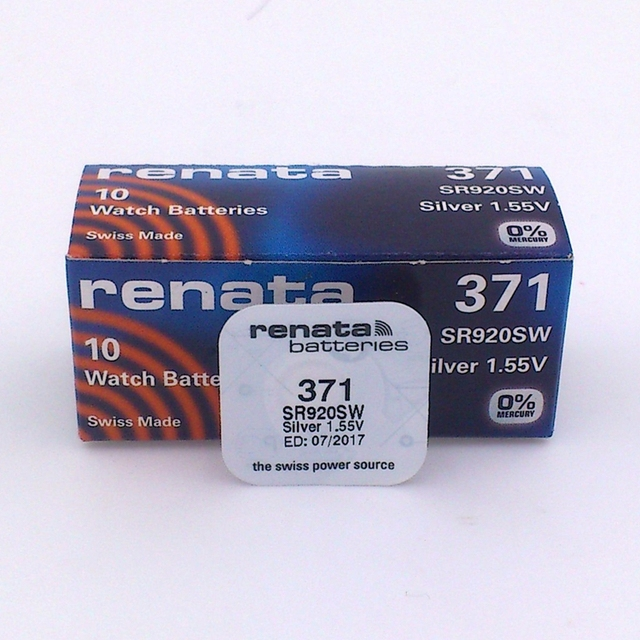 6190f9a51 5 Unids/lote Suiza RENATA original Swiss 371 SR920SW 920 batería de relojes  SWATCH