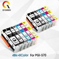 PGI570 PGI 570 571 Compatible Ink Cartridges For Canon PIXMA MG5750 MG5751 MG5753 MG6850 MG6851 printers PGI 570 CLI 571 CLI 571