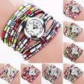 1pc Women female ladies Bracelet Watch clock gift Colorful Diamond  Relogio Quartz Wristwatches fashion Casual analog H5