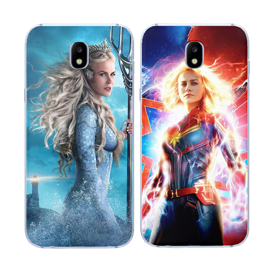 Case For Samsung galaxy J3 J5 J7 J8 J6 J4 Plus 2017 2018 iron Man Captain America Marvel DC Joker Soft silicone TPU Phone Cases in Fitted Cases from Cellphones Telecommunications
