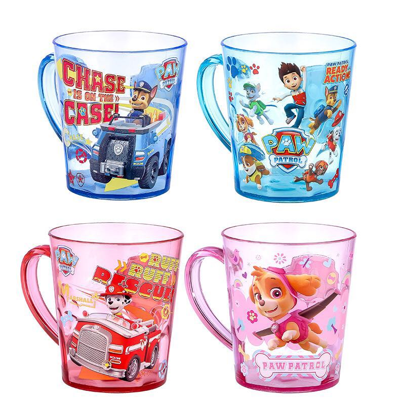 Hot sale Genuine Paw Patrol 1Pc 300ml Kids Children Baby Milk Tritan Cup with Handle Breakfast Mug Drink Home Cup 4 colors toy taza de m&m