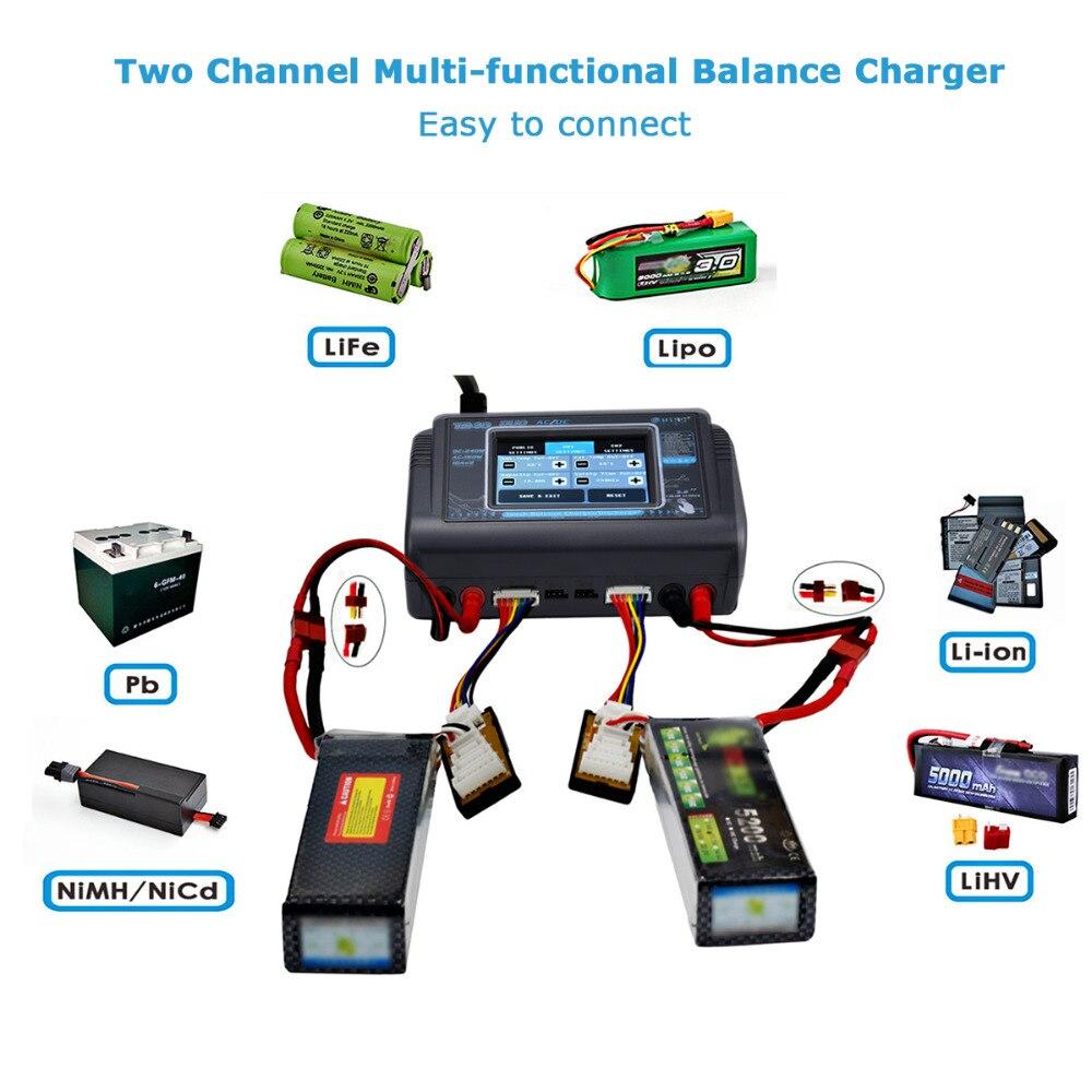 HTRC T240 DUO RC chargeur AC 150W DC 240W écran tactile double canal Balance déchargeur pour RC modèles jouets batterie Lipo - 4
