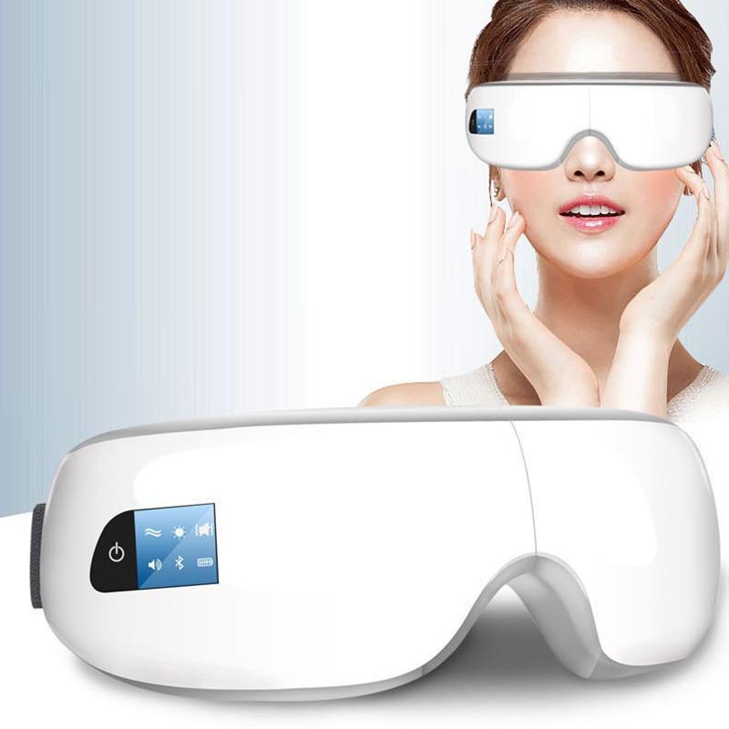 Bew Melhoria Da Visão Máscara Enxaqueca Cuidados Testa Eye Olho Massageador Elétrico Massagem Cuidados de Saúde Ferramentas Bluetooth música Olho relaxar