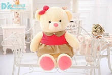 small lovely plush red skirt teddy bear toy Rural skirt teddy bear doll gift about 60cm