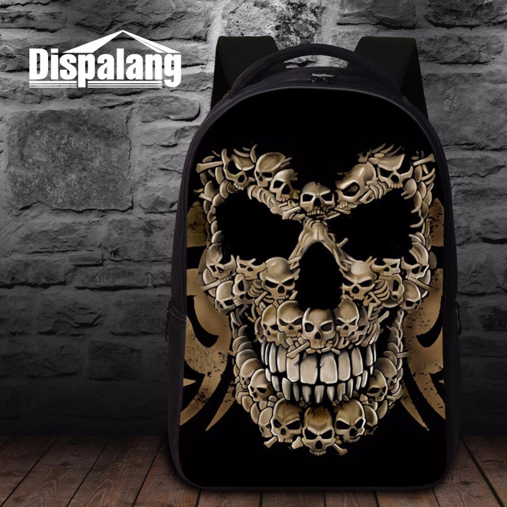Cool Skull Backpacks for High Class Students Best College Bookbags Fashion Laptop Back Pack for Guy Backpacking Bag for Teen Boy