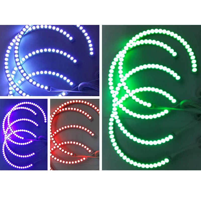 4Pcs RGB 131mm 5050 LED Angel Eye Ring Light with Remote Control for BMW E36 E38 E39 E46 M8617