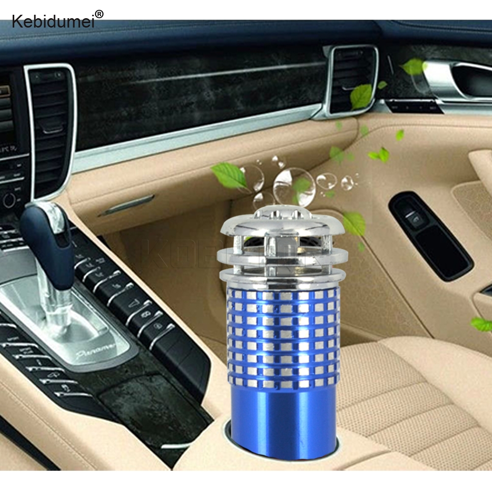 Kebidumei Vehicle Air Purifier Mini Auto Car Fresh Air Anion Ionic Purifier Oxygen Bar Ozone Ionizer Interior Accessories DC12V executive car