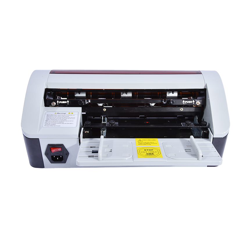 SSB-001 90x54mm De Bureau Semi-Automatique D'affaires Nom Card Cutter Coupe Machine AC 220 v/50 hz Électrique massicot