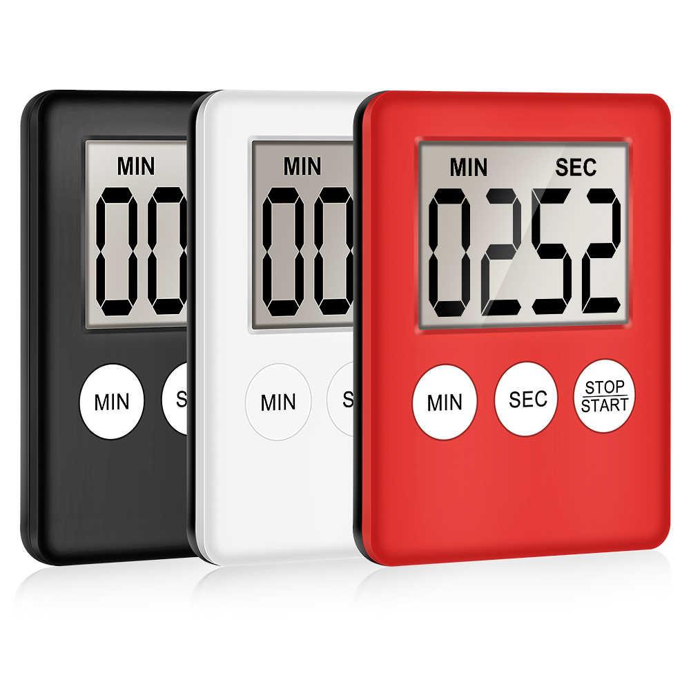 Handy LCD Digital Table Magnet Alarm Clock DIY Kitchen Oven Cooking Timer #J