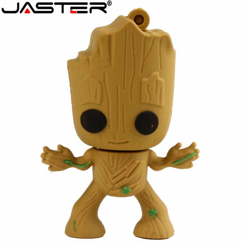 4 gb 8 gb 16 gb 32 gb 64 gb disco de u da vara da memória da árvore dos desenhos animados da movimentação do flash de usb do homem da árvore