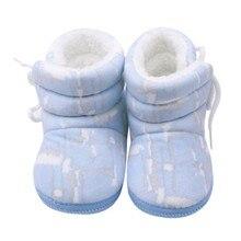Обувь для мальчика; обувь для новорожденных; хлопковые сапоги с неровным принтом; обувь для малышей с боковыми ремешками