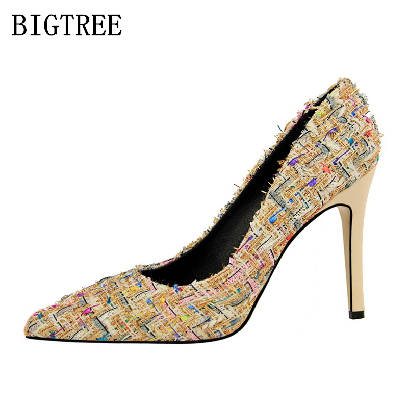 64ae4852c1d Bigtree sapatos mulher sapatos de grife das mulheres de luxo 2019 extrema  salto alto mulheres sapatos de salto alto bombas sexy de salto stiletto  preto em ...
