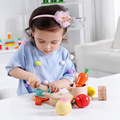 Wooden kitchen simulation cooking gas stove cooking toys Pretend Play Cutting Food Set Kids Kitchen Toys Girl Gifts