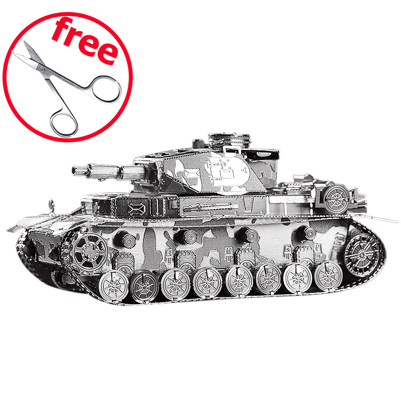 IV Tank P037S Educational Toys 3D Puzzle DIY Piececool Metal Models, Puzzle 3D Models Brinquedos, Kids Toy, Toys For Children electric spider robot toy diy educational intelligence development assembles kids children puzzle action toys kits