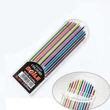 12pcs(color)/pack 2.0mm 2B Colored Pencil Lead Refills for Mechanical Pencil for Art Drafting Diy Drawing Writing School Supply
