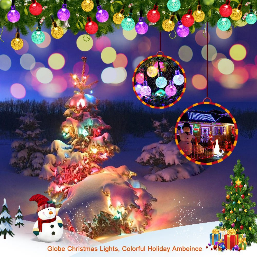 holigoo 4pcs 30 led christmas light globe outdoor solar string lights 20ft fairy bubble crystal ball party decoration lights in lighting strings from lights