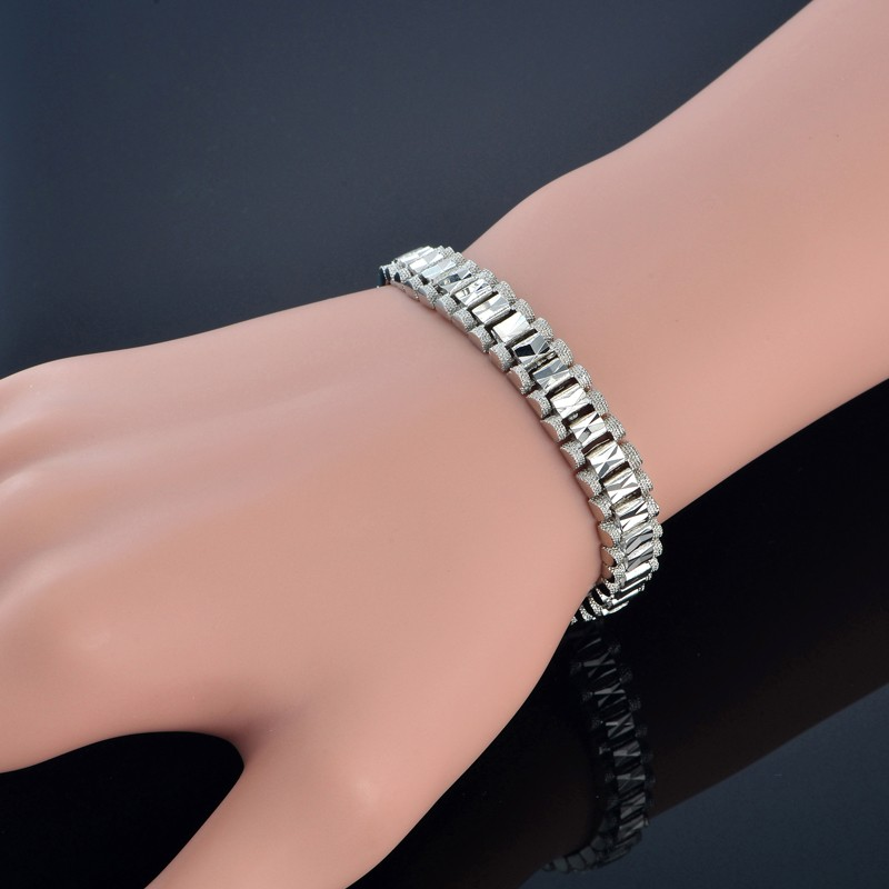 Male Bracelet Women Jewelry 12MM Pulseira Masculine Trendy Gold Color Chunky Chain Link Bracelet Wholesale Bileklik For Man P166 16