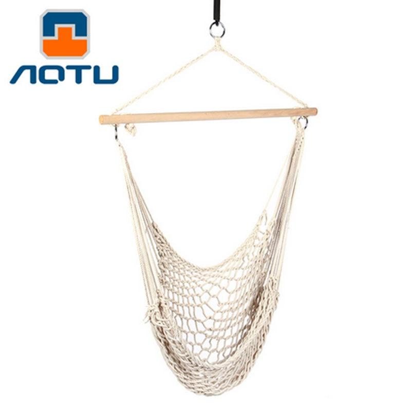 ФОТО cotton rope mesh hanging chair Hammock Camping garden swing
