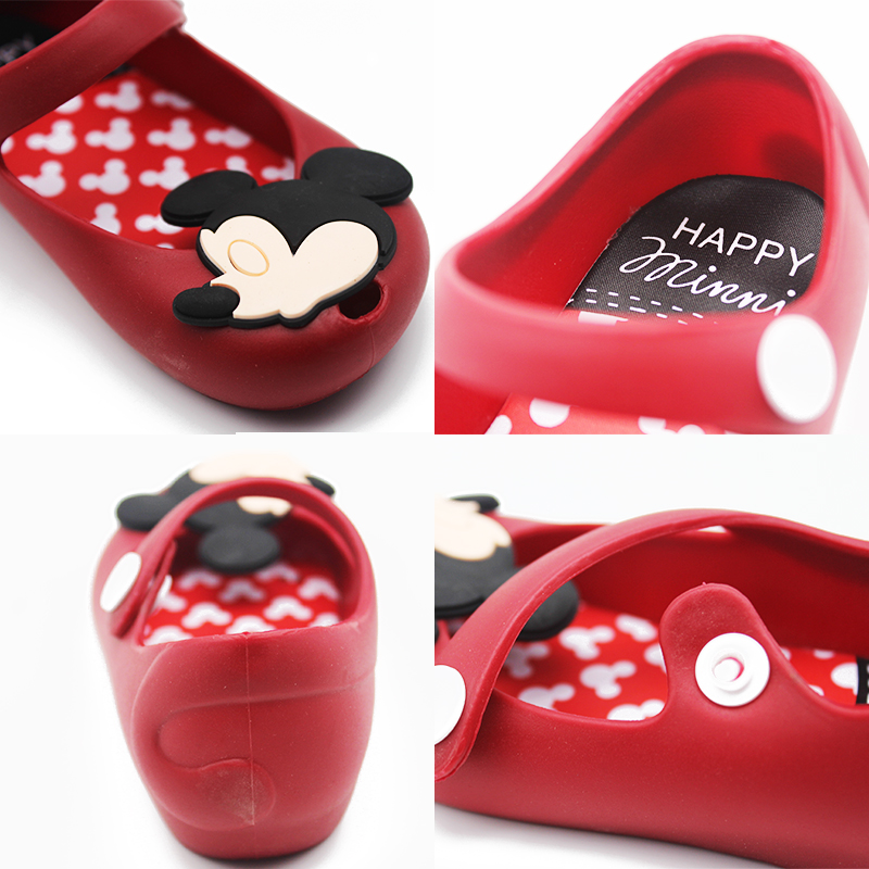 Melissa 2018 Mini Mickey & Minnie Jelly Shoes Boys Girls Sandals Soft Comfort Toddler Baby Girl Sandals Beach Sandals for Kids