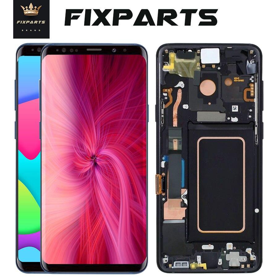 Super AMOLED Pour 5.8 Samsung Galaxy S9 LCD S9 Plus + Affichage à L'écran Tactile Digitizer Assemblée Pour 6.2 samsung S9 Plus G9650 lcd